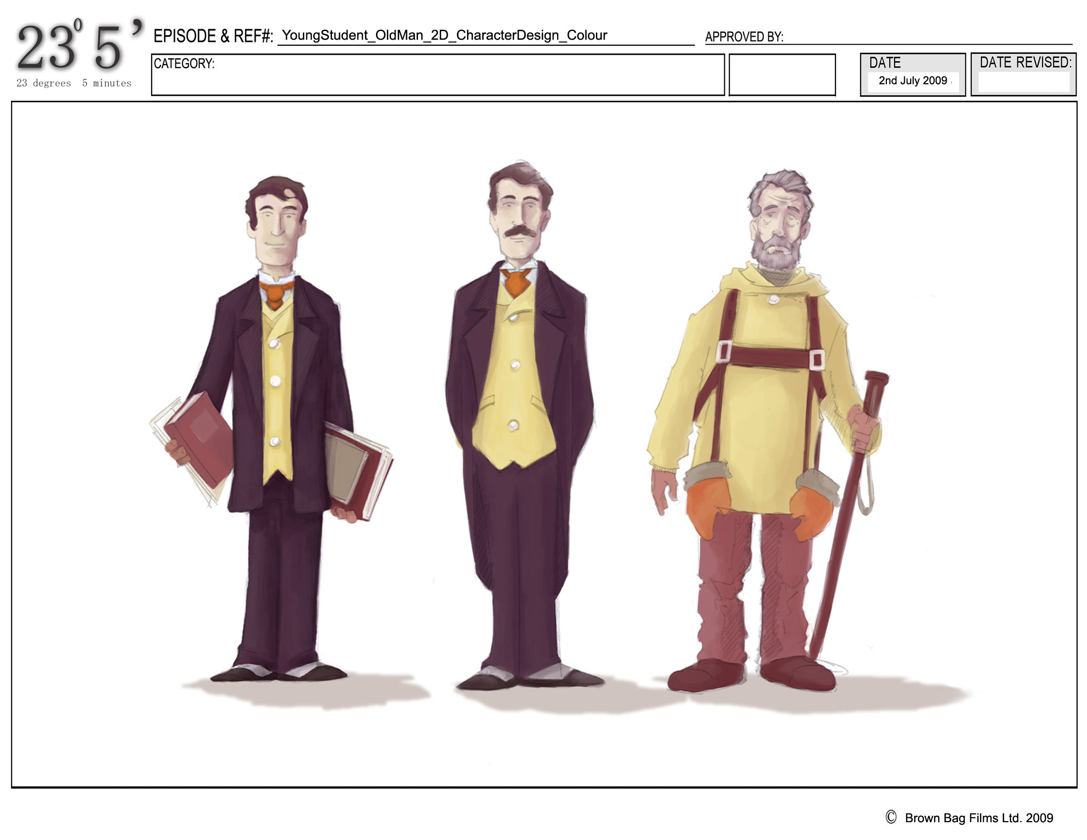 Character Design Man : The making of degrees minutes part brown bag labs
