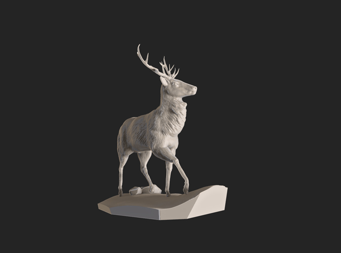 Stag render from ZBrush