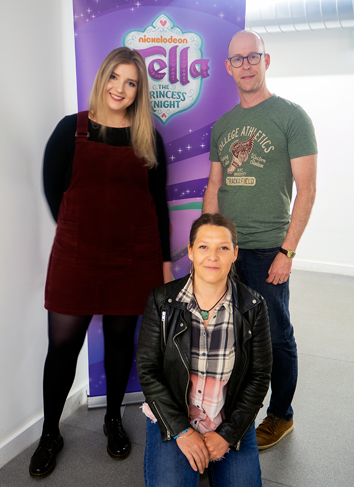 Assistant Art Director Giedre Kaveckaite, Head of 2D UK, Erica Lack, Series Director Bill Gordon
